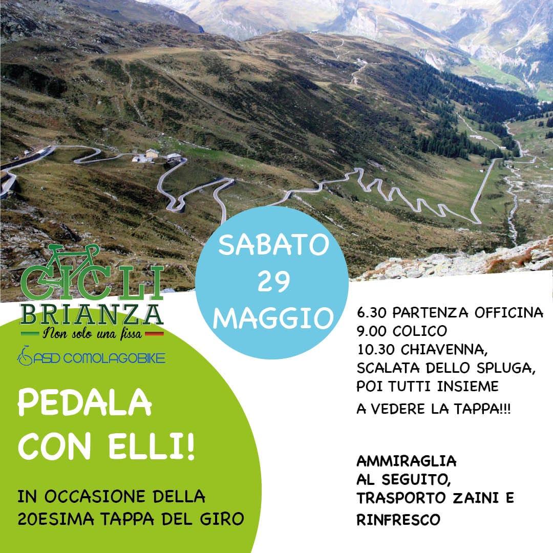 PEDALA CON ALBERTO ELLI, TUTTI INSIEME A VEDERE LA 20° TAPPA DEL GIRO D'ITALIA
